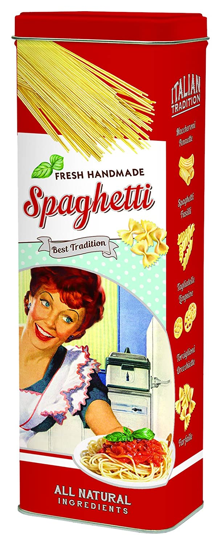 R2S 076Past - Contenitore per spaghetti, in metallo, multicolore, 10x 7x 29cm Nuova R2S 076PAST