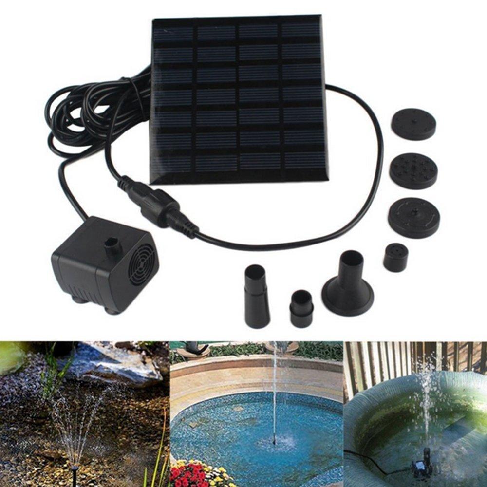 unter Wasser verwendbare Wasserpumpe mit 1,4/Watt Solarbetriebene als Gartenbrunnen und zur Bew/ässerung Ihrer Pflanzen