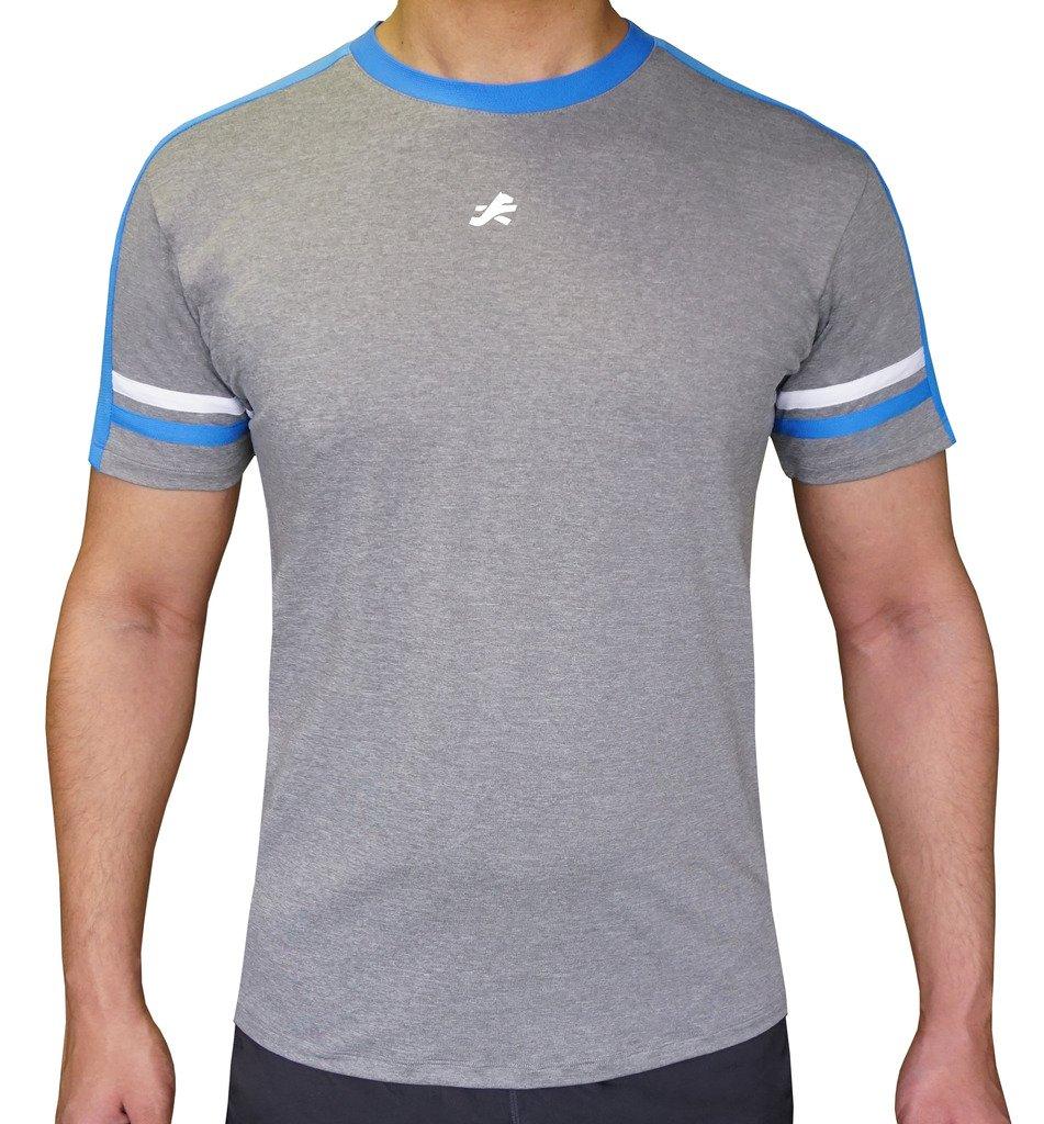 b82b4f38 ReDesign Men's Dri-Fast Active Grey Sportswear Tshirt Round Neck:  Amazon.in: Sports, Fitness & Outdoors