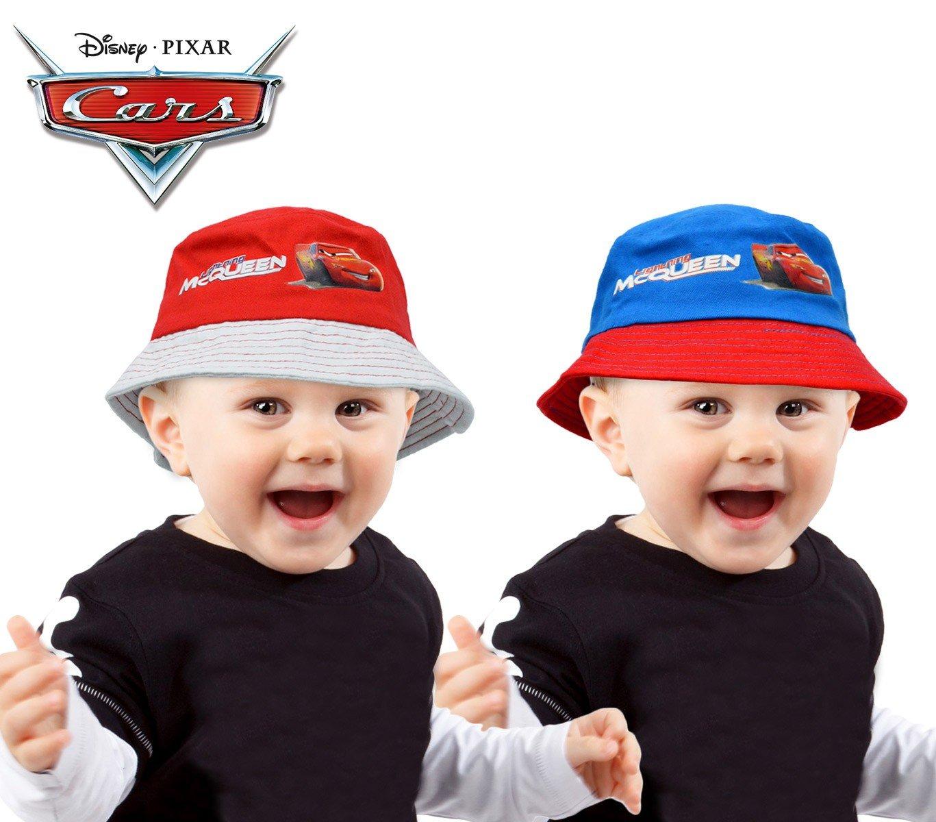 MWS2550 305879 Sombrero infantil tipo pescador con diseño CARS (ROJO - 48 CM)
