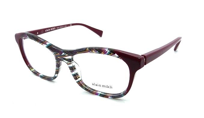Amazon.com: Alain Mikli Rx Eyeglasses Frames A03068 D010 53-16-140 ...