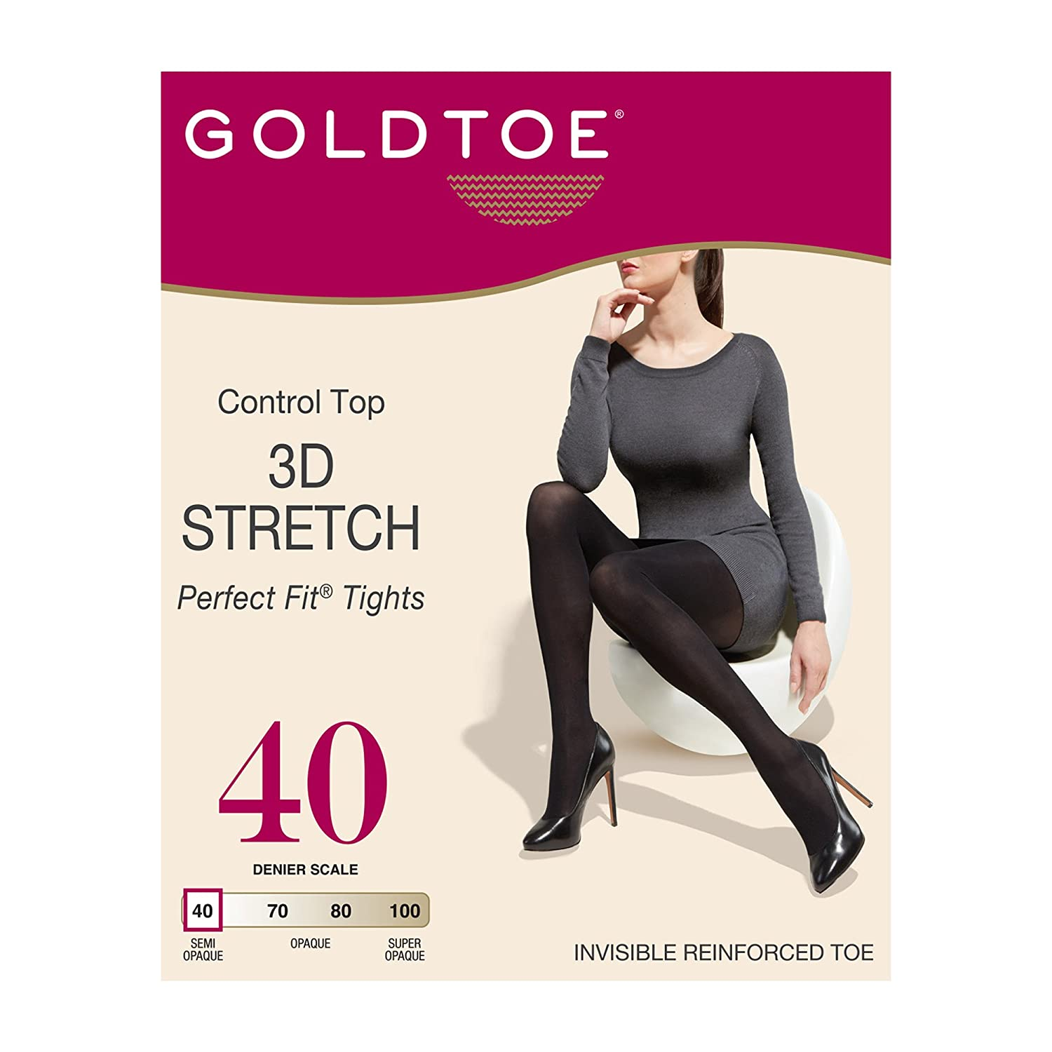 8a9fd20f324 Gold Toe Women s Control Top Semi Opaque Perfect Fit Tights