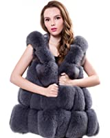 Women winter coat Faux fur coat hooded vest long vest large size women