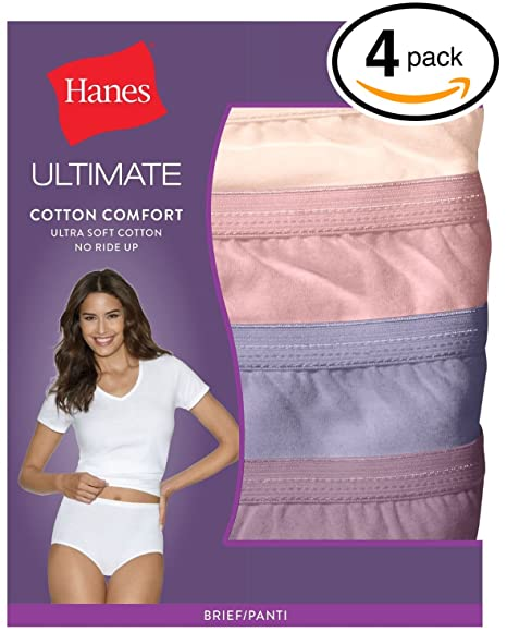 5501b6e0c93 Image Unavailable. Image not available for. Color  Hanes Women s 4Pack  Assorted Cotton Briefs Ladies Panties Underwear 8