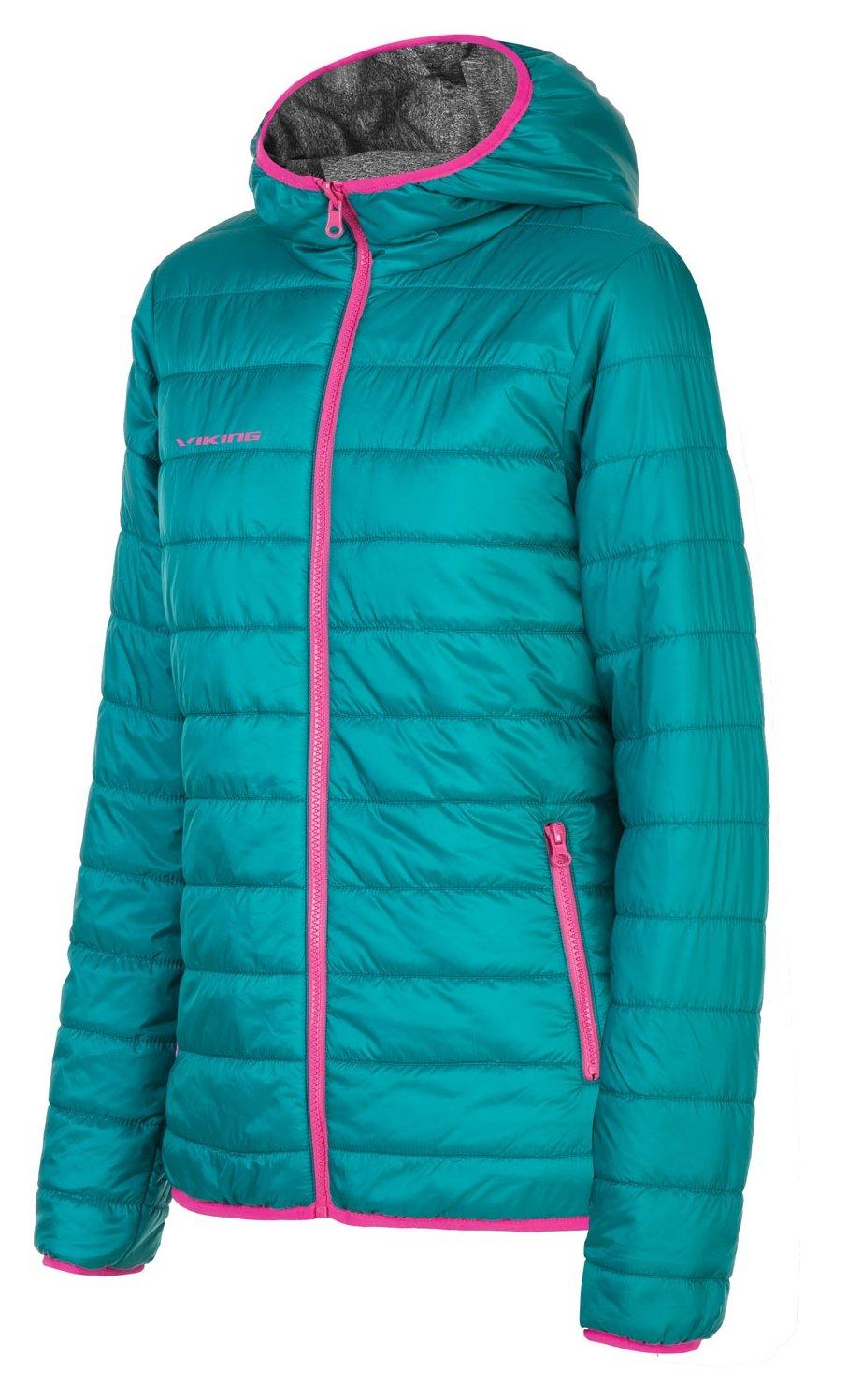 viking Outdoorjacke Wendejacke Damen mit Kapuze und Primaloft - zweiseitig - extra warm und atmungsaktiv - Cameron