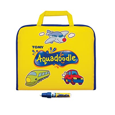 AquaDoodle Colour Doodle Bag Travel Water Doodle Mat, Official Tomy No Mess Colouring & Drawing Game, Suitable for Toddlers and Children - Boys & Girls 18 Months, 2, 3, 4+ Year Olds: Toys & Games