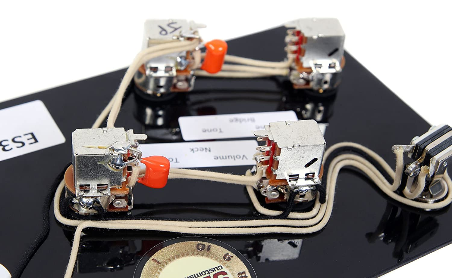 920d Gibson Es 335 Jimmy Page Wiring Harness With Custom New Les Paul Switchcraft Bourns Orange Drop Musical Instruments