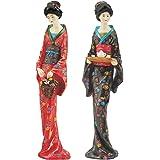 Design Toscano Japanische Geisha-Figuren: Sadayakko und Koyukit