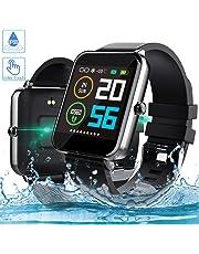 Smartwatch, Zagzog 1,54 Zoll Voller Touch Screen Bluetooth Smartwatch Wasserdicht IP68 Fitness Tracker GPS Sportuhr Armband Pulsuhren Schrittzähler Herren Damen Smartwatch Kompatibel für IOS Android