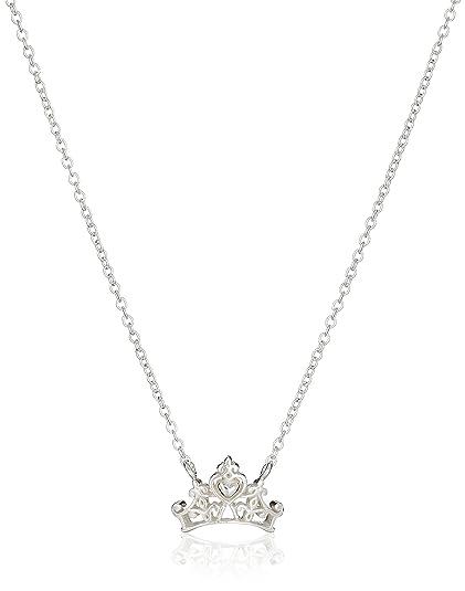 Amazon disney sterling silver princess crown pendant necklace disney sterling silver princess crown pendant necklace 16quot2quot extender aloadofball Choice Image
