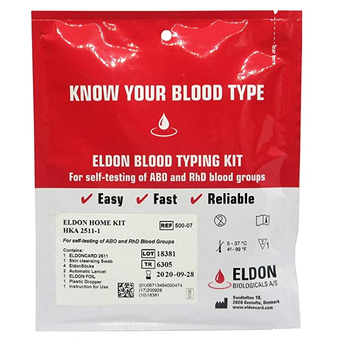 (5 Pack) Blood Typing Test Kit Eldoncard