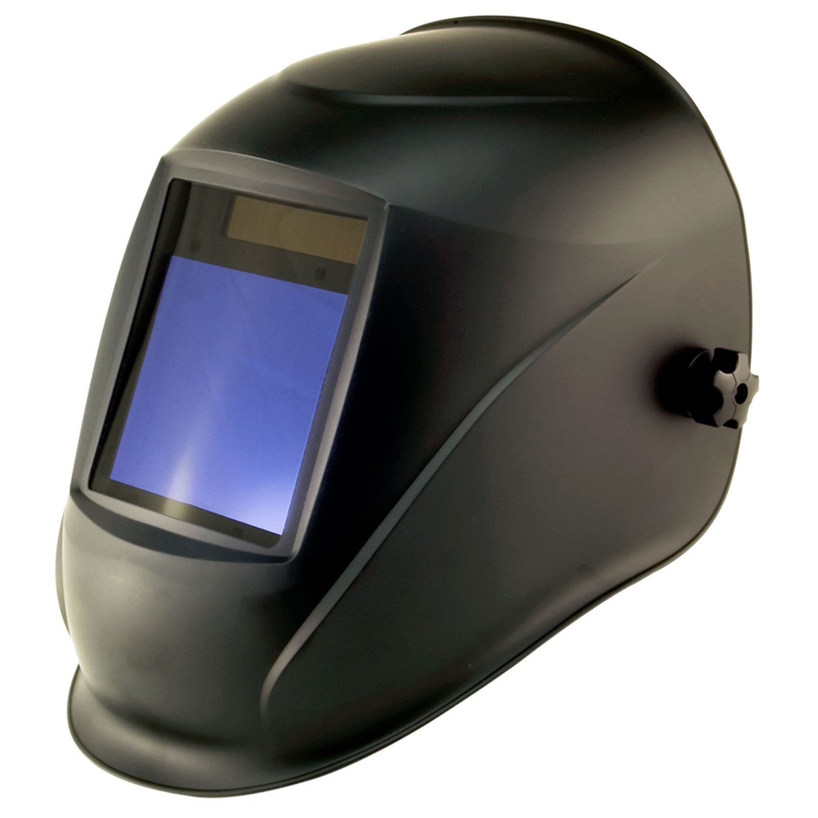 True-Fusion Big-1 Shadow IQ2000 Solar Powered Auto Darkening Welding Helmet Hood Grind mask with Massive View Area (98mm x 87mm - 3.85x3.45 inches) FREE Storage Bag, Spare Lenses and Spare Sweatband included