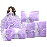 Complete Quinceanera Doll Set with Matching Album Guest Book Pillow Bible Q1044 (Basic set +