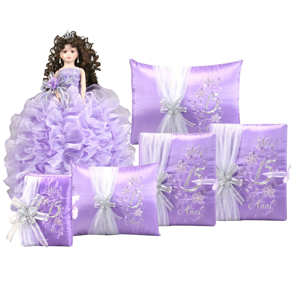 Amazon Complete Quinceanera Doll Set With Matching Album Guest Book Pillow Bible Q1044 Basic English Kitchen Dining