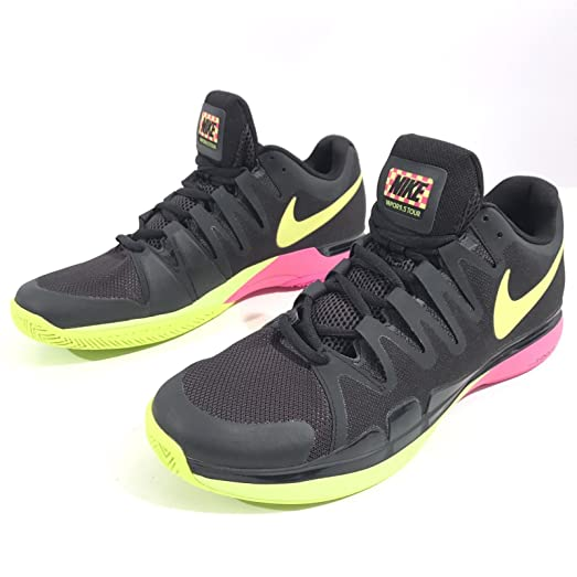 Nike Zoom Vapor 9.5 Tour Men's Tennis Shoes Black/Volt/Pink 631458-076