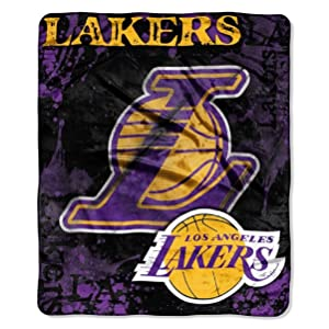 """Officially Licensed NBA """"Dropdown"""" Plush Raschel Throw Blanket, 50"""" x 60"""", Multi Color"""