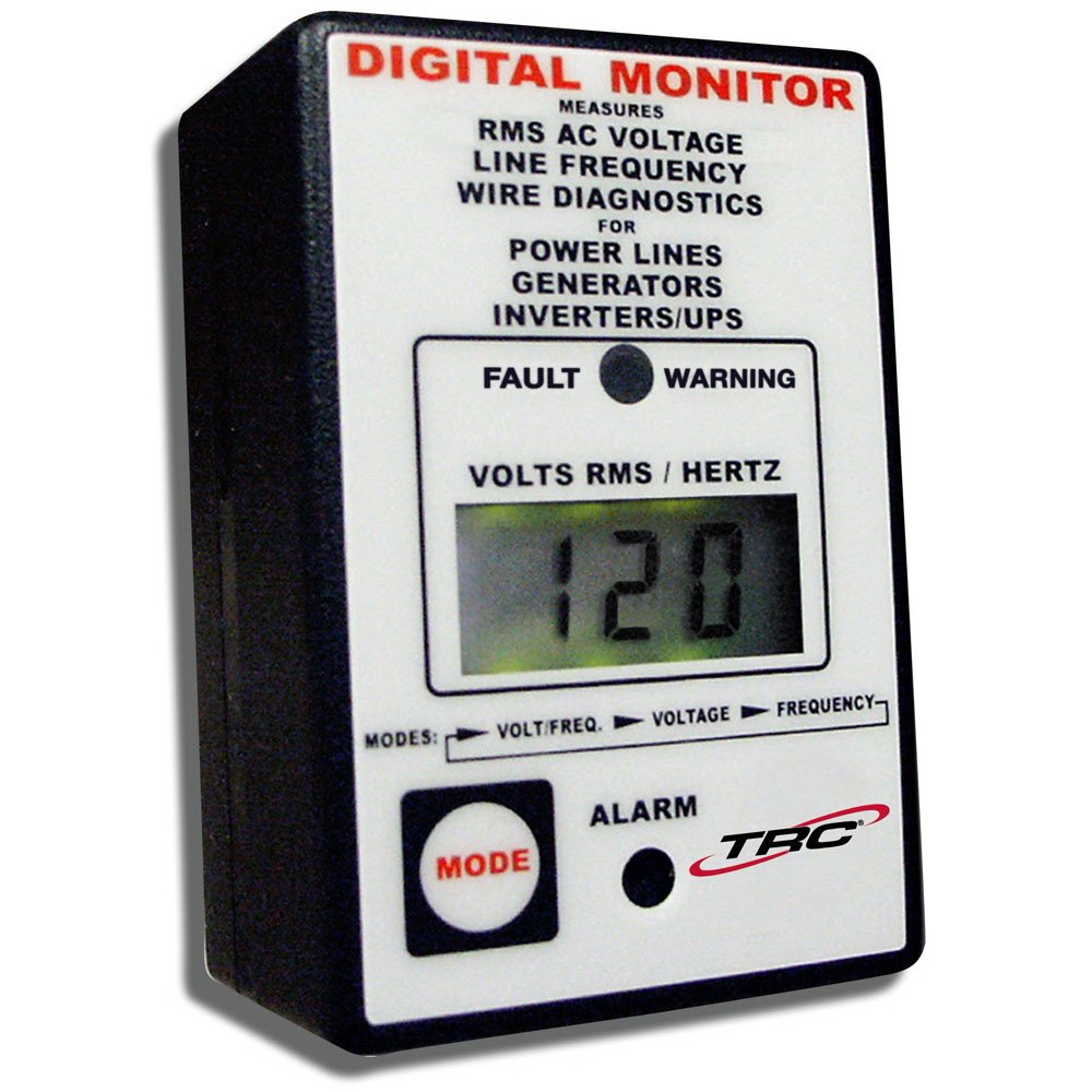 TRC AECM20020-3-012 Electra Check Digital Monitor for All AC Power Sources, Black with White Face by TRC (Image #1)