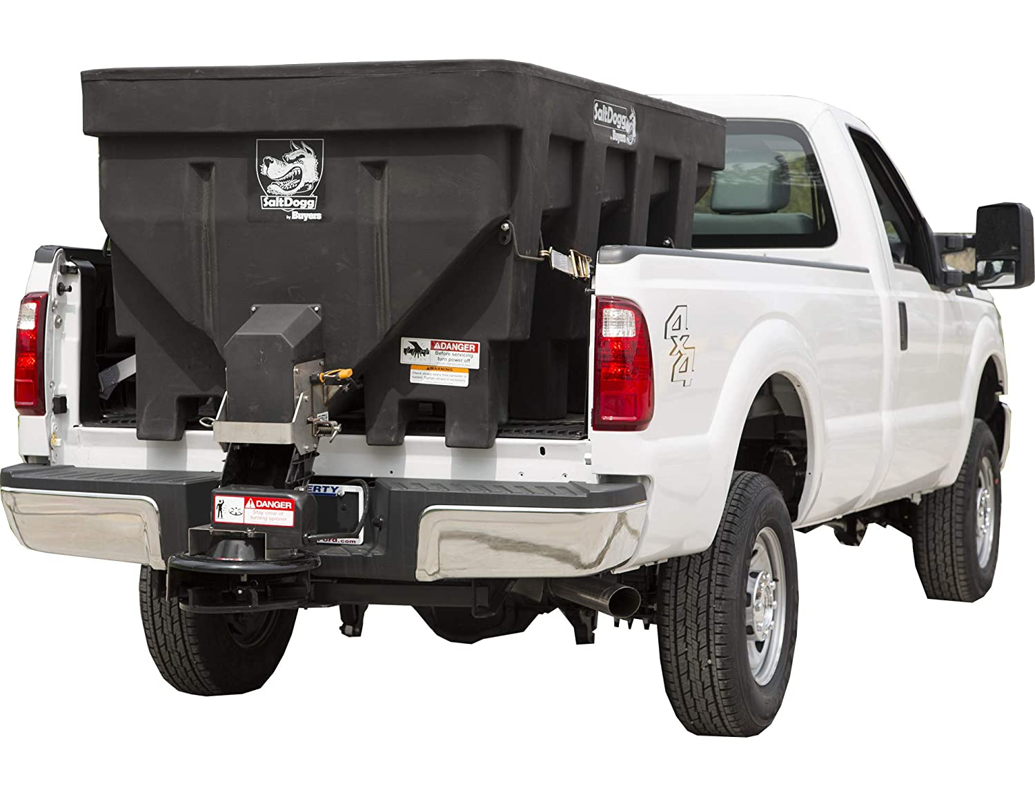 SaltDogg SHPE2000 Electric Poly Hopper Spreader 2.0 Cubic Yards Black Buyers Products