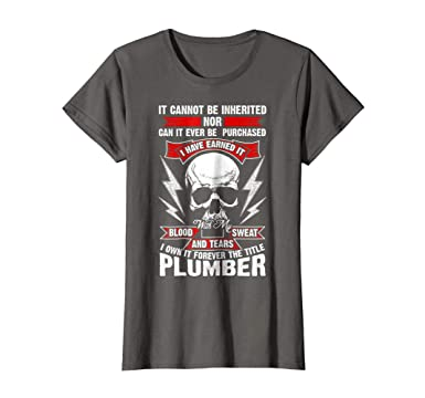Amazon Com Womens Funny Plumber Gift Great Union Meme T Shirt Large