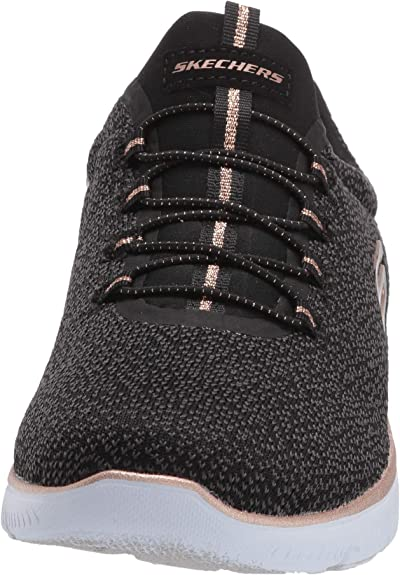 Skechers Women's Summits Fresh TAKE Sneaker, BlackGold, 7 W T4uPT