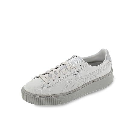 83c37888fb032 Amazon.com | PUMA - Basket Platform Reset - 36331301 - Color: Grey ...