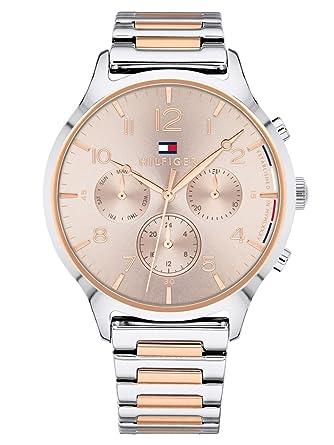 Tommy Hilfiger Reloj Multiesfera para Mujer de Cuarzo con Correa en Acero Inoxidable 1781876: Amazon.es: Relojes