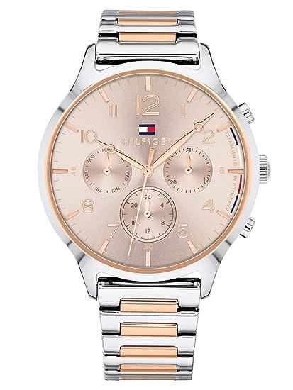 Tommy Hilfiger Reloj Multiesfera para Mujer de Cuarzo con Correa en Acero  Inoxidable 1781876  Amazon.es  Relojes 953cdadb9258