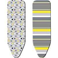 "Minky SmartFit Reversible Ironing Board Cover, 49"" x 18"", Multicolor"