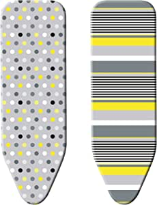 """Minky Homecare SmartFit Reversible Ironing Board Cover, 49"""" x 18"""", Multicolor"""