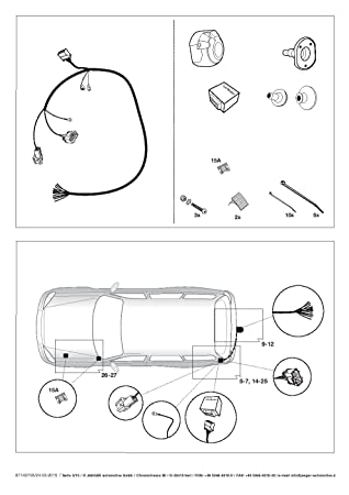 13 Pin Specific Towbar Wiring Kit For Nissan Qashqai 2014
