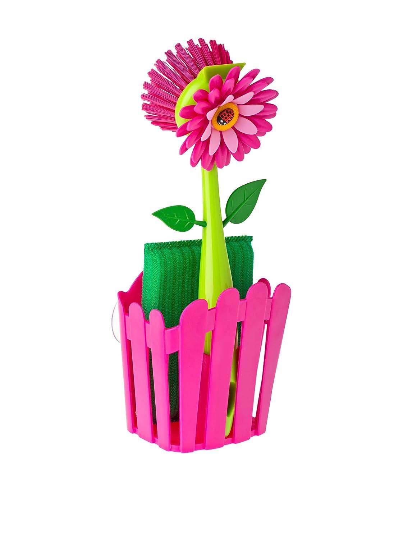 Vigar Kit Pulizia da 3 Pezzi: Flower Power, Colore: Fucsia 6479_Violeta Verde
