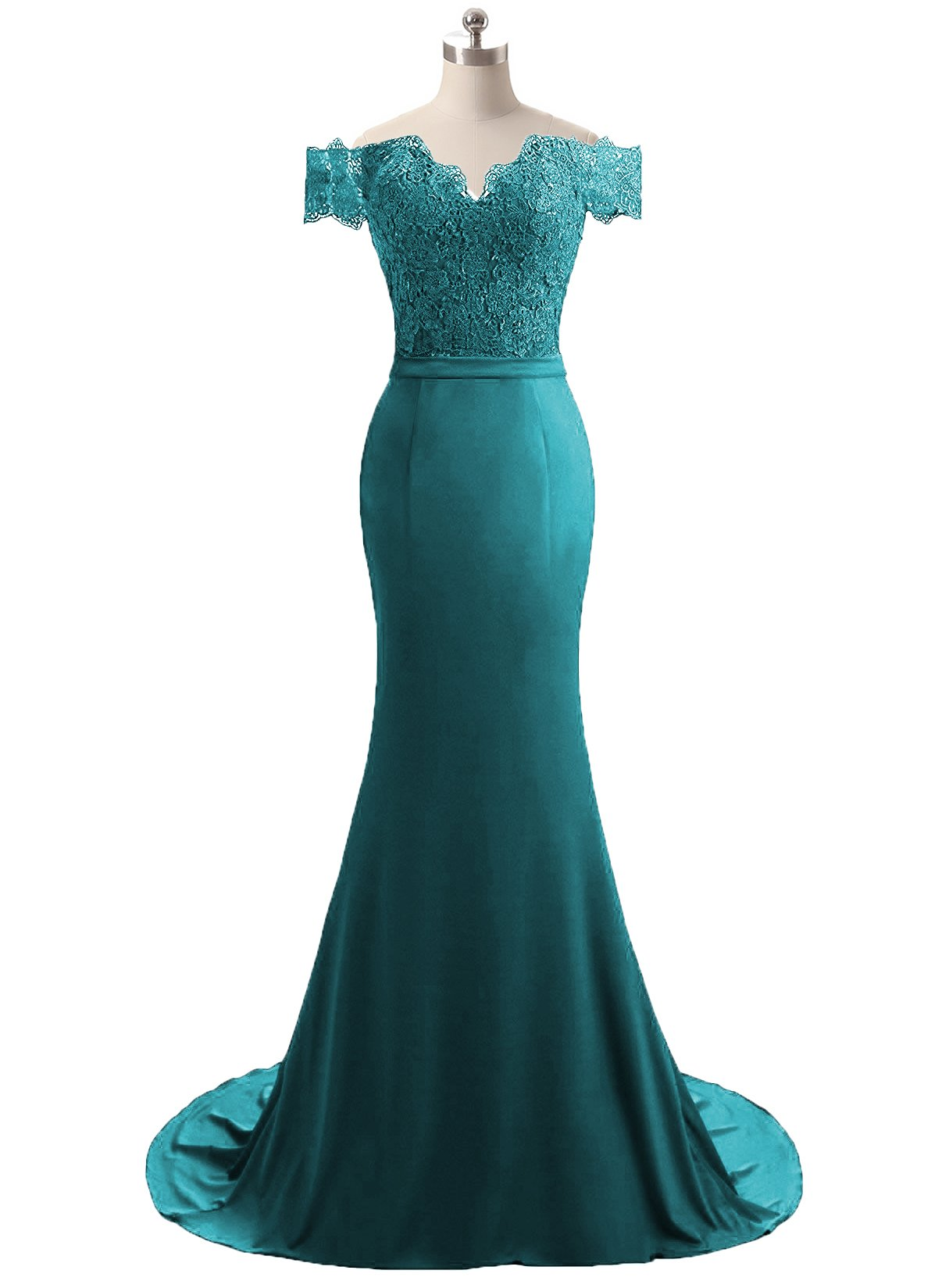 Teal Blue Mermaid Prom Dresses: Amazon.com