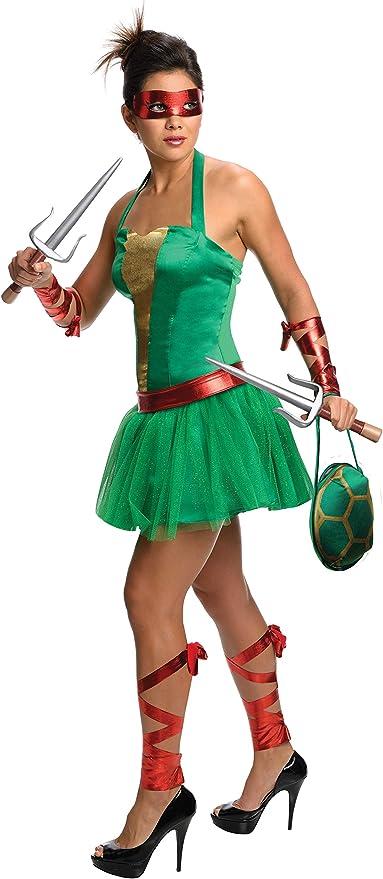 Disfraz de Raphael de las Tortugas Ninja para mujer: Amazon.es ...