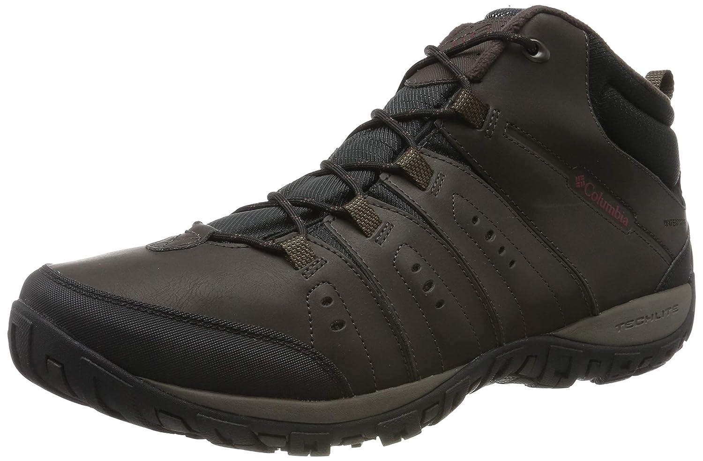Marron (Cordovan, Garnet rouge) Columbia Woodburn II Chukka WP Omni-Heat, Chaussures de Randonnée Hautes Homme 43.5 EU