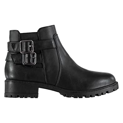 6c91eb102e9a Miso Womens Cojito Boots Flat Ankle Buckle Fastening Zip Textured Black UK  4 (37)  Amazon.co.uk  Shoes   Bags