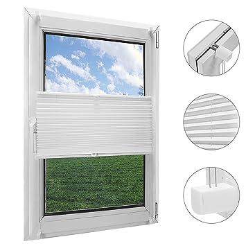 Amazon Plissee Rollo.Obdeco Plissee Rollo Klemmfix Ohner Bohren Faltrollo Für Fenster Blickdicht Sonnenschutz Easyfix Weiß 60x130cm