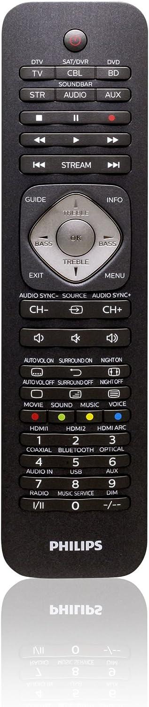 Philips SRP5016/10 - Mando a Distancia para televisores, Color Negro: Amazon.es: Electrónica