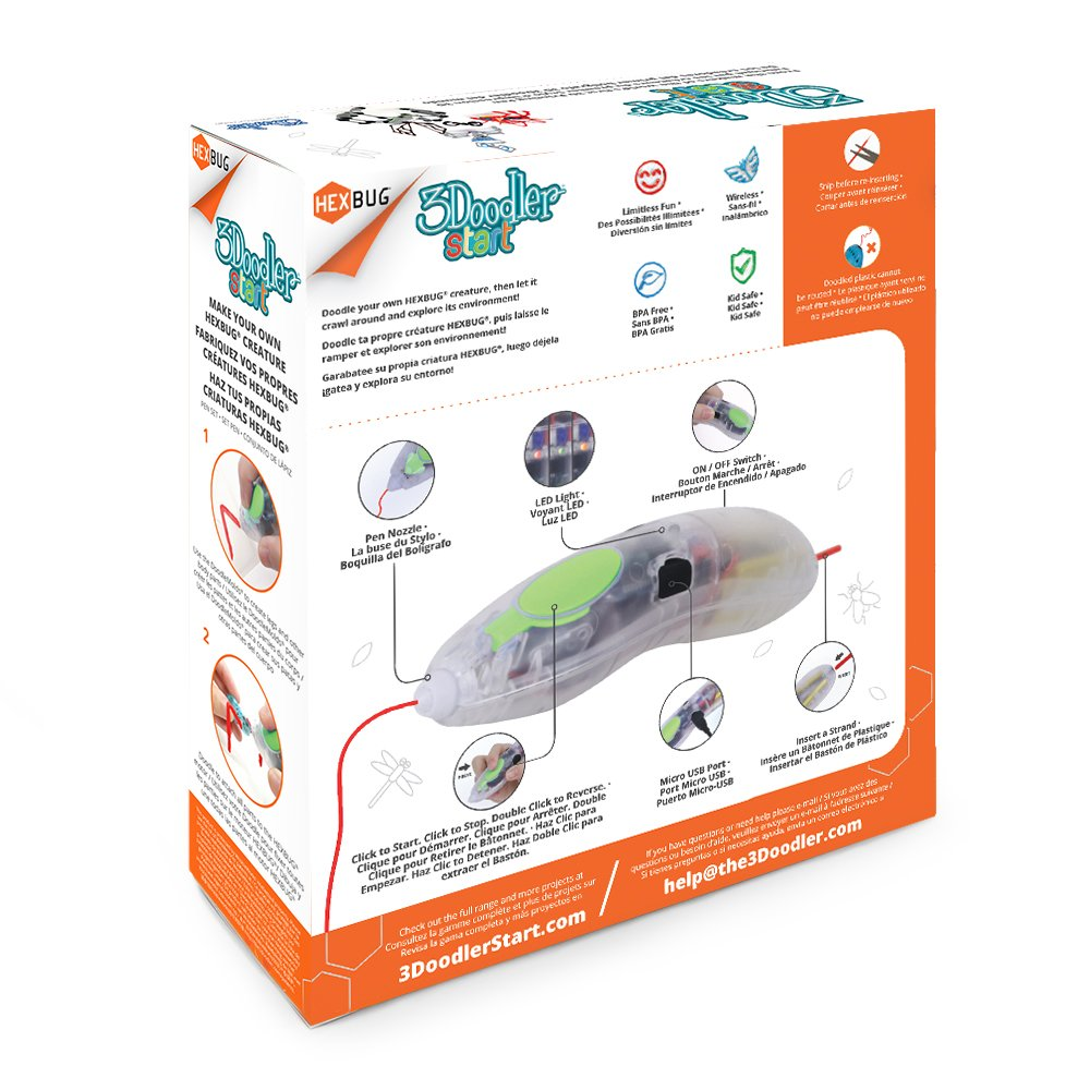 3Doodler Start Make Your Own HEXBUG Creature 3D Pen Set, Amazon Exclusive, with 2 Additional Insectoid DoodleMold by 3Doodler (Image #2)