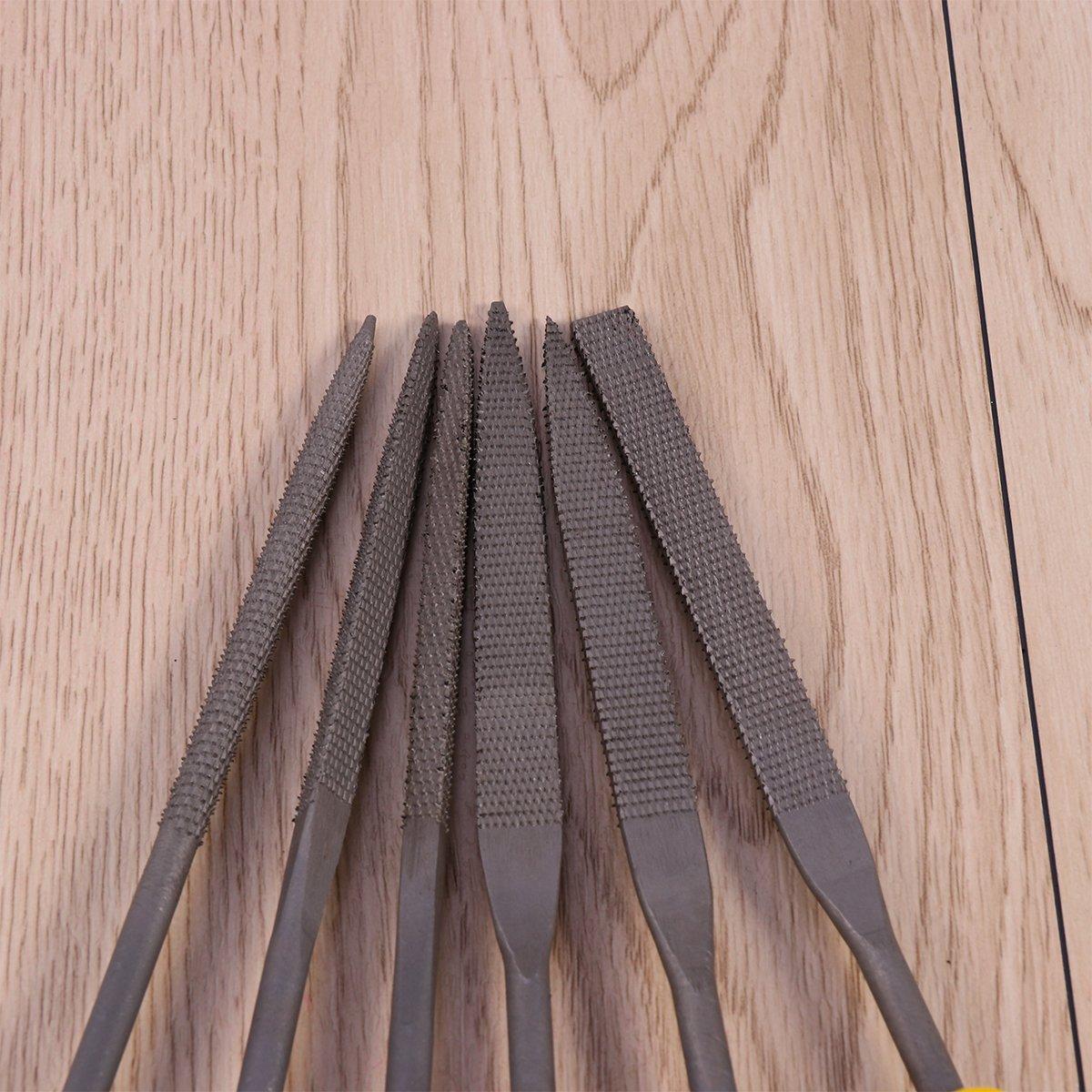 ukcoco Wood File Set 6Pcs Hand File Hardened Steel Wood Scraper Set 140/x 3/mm