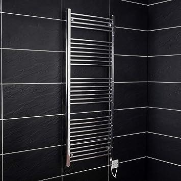 Elektrischer Handtuchheizkörper elektro Badheizkörper Bad Heizung 1500x600  Chrom