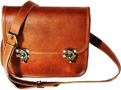 Women/'s New Genuine Brown Leather Vintage Messenger Shoulder Cross Body Bag