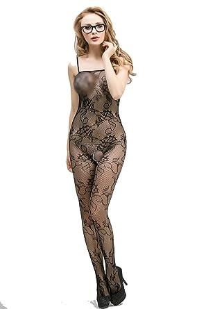 ae0593f158 OnMeFocus OnMeFoucs Women Sexy Bodystocking Hot Lingerie Dress -W4098   Amazon.in  Clothing   Accessories