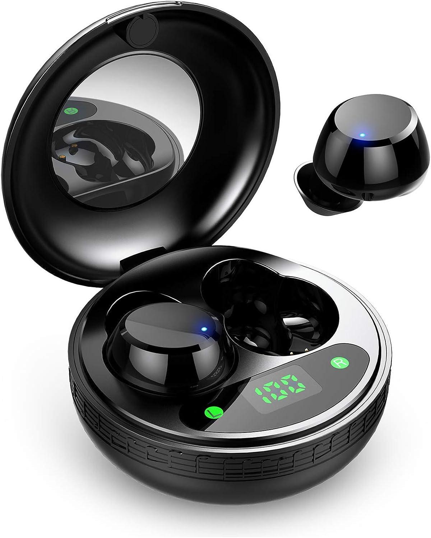 Auriculares Inalambricos, Motast Auriculares Bluetooth 5.0 con Microfono Mini TWS Estéreo Cascos In-Ear, IP7 Impermeable, con Caja de Carga Portátil, Reproducción de 35 Horas para iPhone y Android