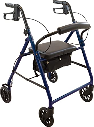 Amazon.com: Roscoe Medical caminador de acero, Azul, 1 ...