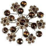 Cyllene Fantaisie - Broche bouquet de fleurs ambrée