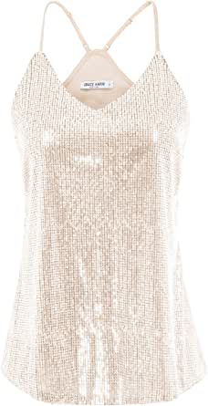 GRACE KARIN Camiseta de Tirantes para Mujer de Lentajuelas con Encaje para Fiesta