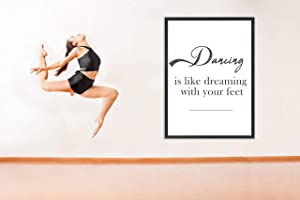 Dance Studio Decor | Dance Studio Wall Art Decal | Dance Teacher Gifts | Inspirational Quotes | Set of 2 Photos | 8''x10'' Unframed | Classroom Decoration Wall Art | Dance Studio Class