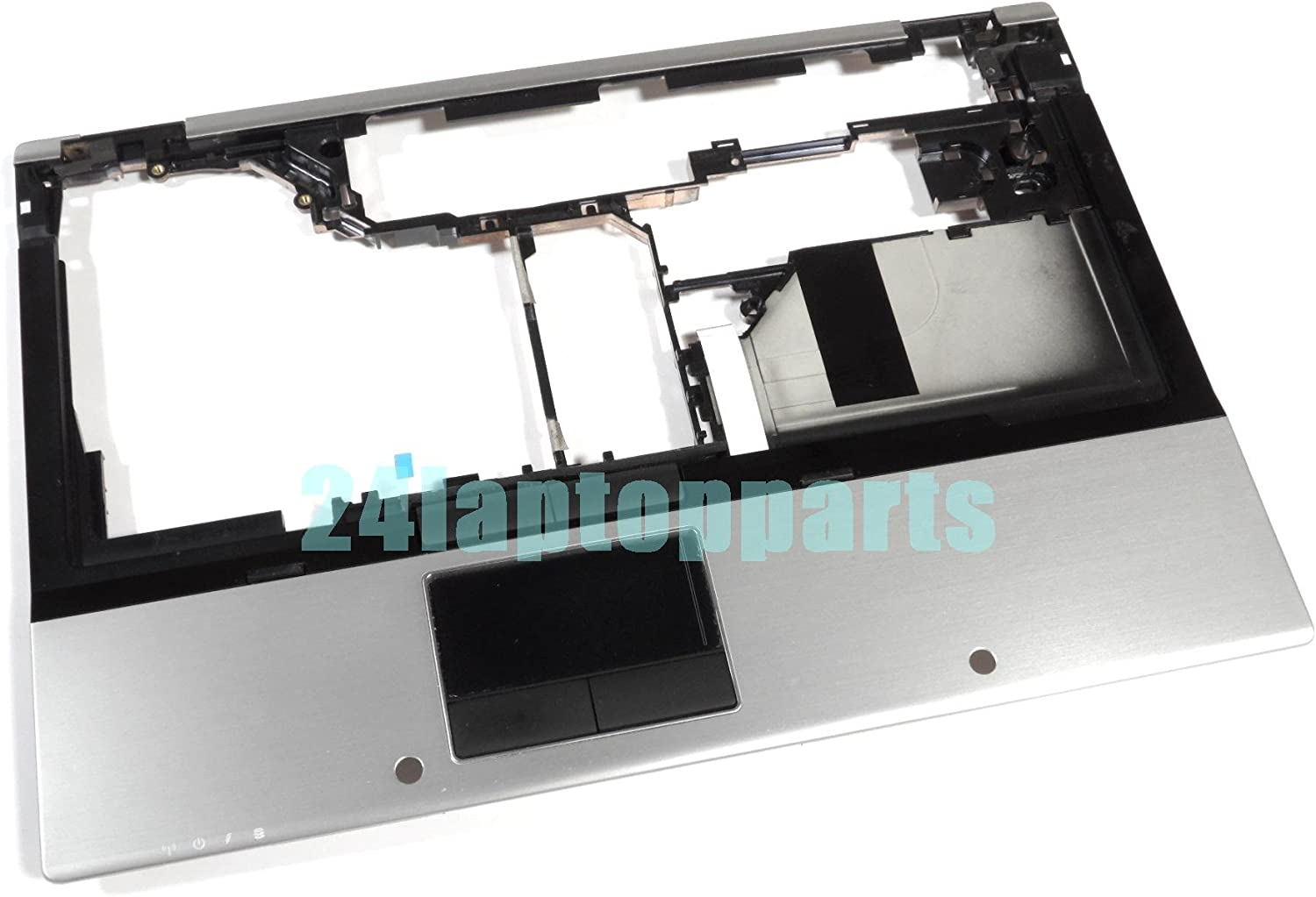 HP 594100-001 Upper CPU cover (chassis top) - With integrated Touchpad and smart card reader, but without fingerprint reader - For use with HP EliteBook 8440w