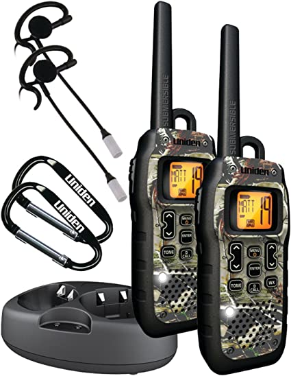 Uniden SX377-2CKHS Waterproof 37-Mile 22-Channel FRS//GMRS 2-Way Radios 2 Pack