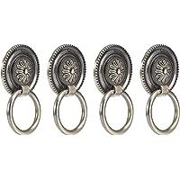 Drawer Handle, Retro Shape Design European Style 4Pcs Door Handle Ring, Antique Handle for Shoe Cabinets Wardrobes…